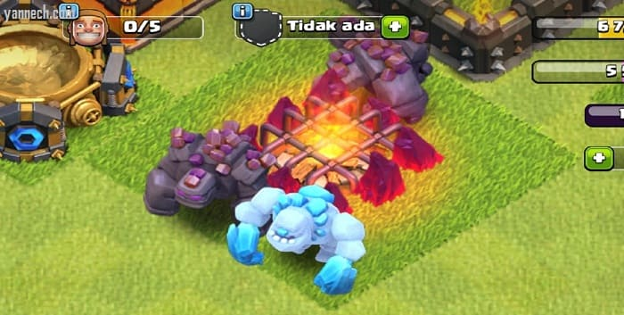 Ini dia! Spell Berjalan Golem ICE Troops Terbaru di Clash of Clans