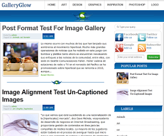 GalleryGlow Blogger Template