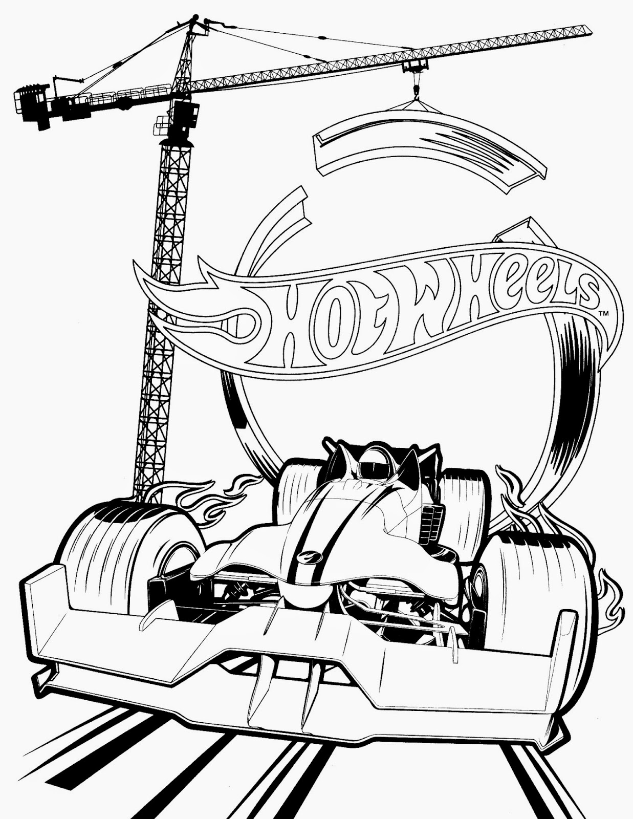 Hot wheels racing league hot wheels coloring pages set 4 for Hot wheels wall tracks template