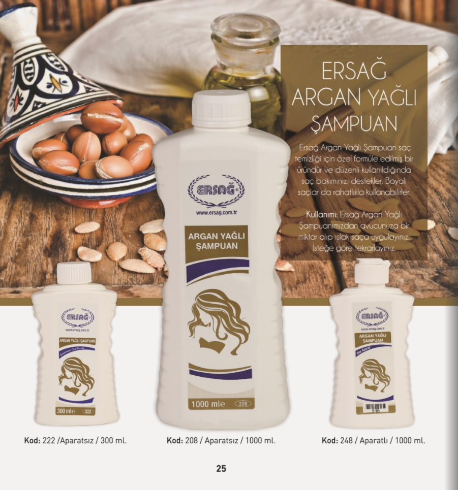Ersağ Argan Yağlı Şampuan