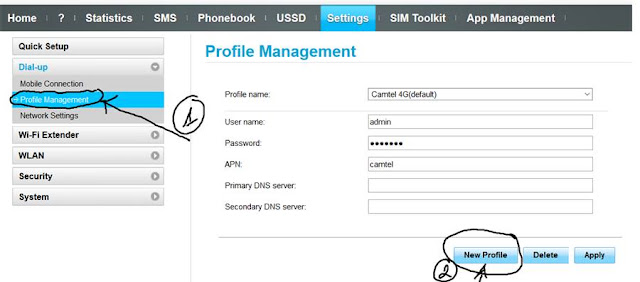How to configure Camtel Cameroon APN for 4G Internet on modem, Computer, Router
