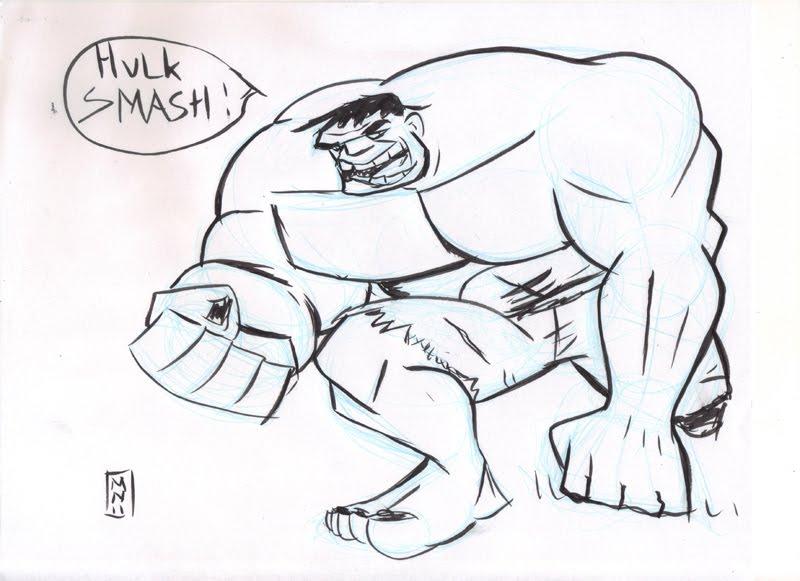 Hulk Vengadores Para Colorear