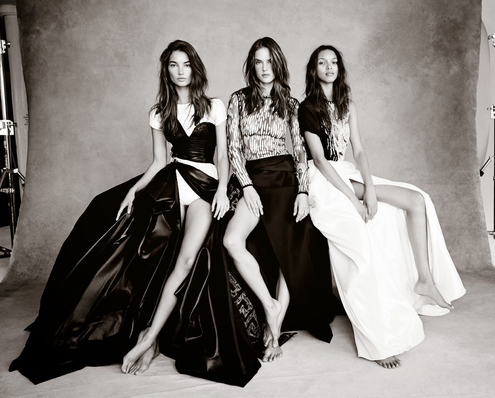 Victoria's Secret Angels dress up in couture for a photoshoot for Vogue UK November 2014