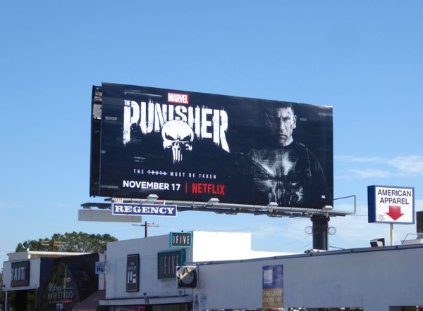 Punisher TV series billboard