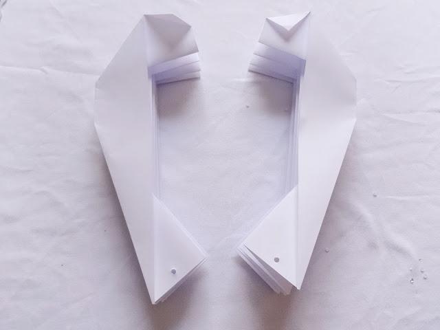 DIY-lampara de papel plegado