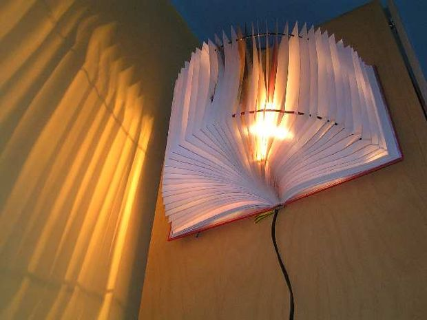 Diy lámpara libro