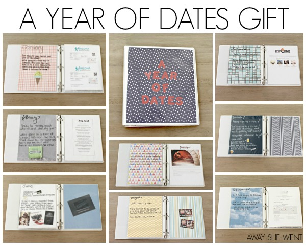 12 Months Of Dates Wedding Gift: A Year Of Dates Gift