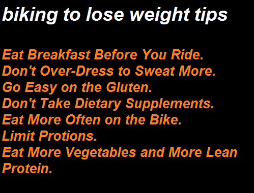 biking to lose weight tips