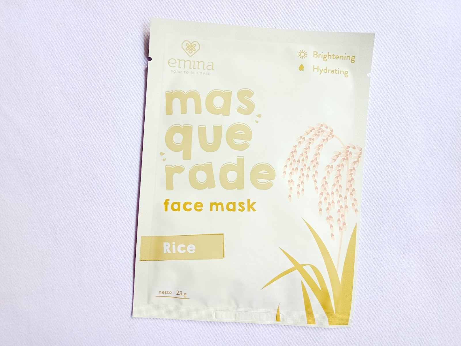 First Impression Emina Masquerade Rice Sheet Mask
