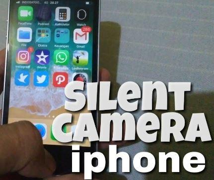 cara mematikan suara shutter kamera iPhone
