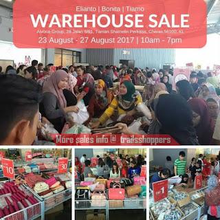 Elianto Bonita Tiamo Merdeka Warehouse Clearance 2017
