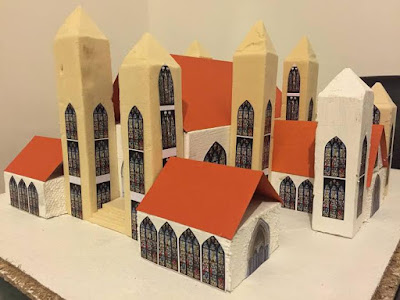12-year-old British-born Nigerian girl designs an amazing cathedral using old files cereal and shoe boxes
