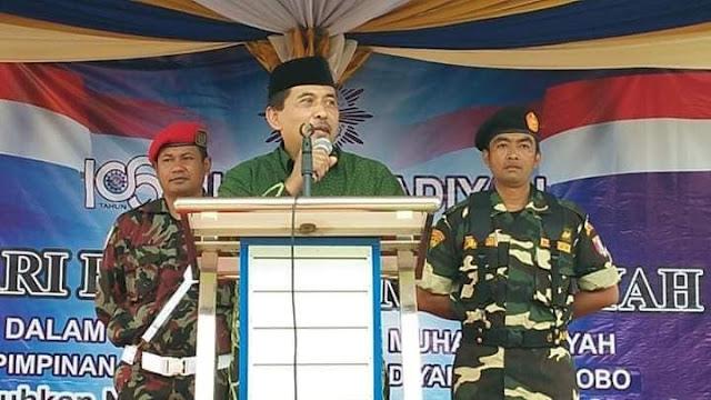 Banser Ikut Amankan Milad Muhammadiyah di Wonosobo