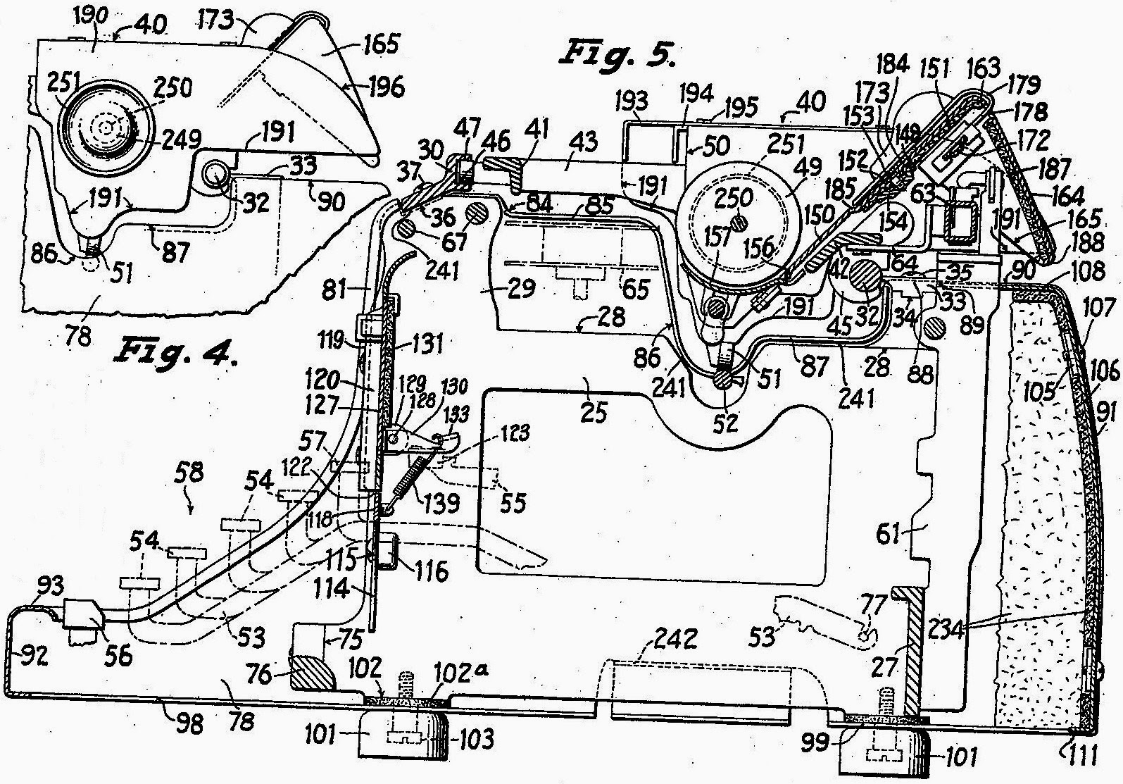 But the basic inner frame for the underwood standard used on the master was designed in march 1919 by another great underwood design engineer