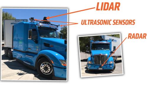 Tinuku.com Waymo autonomous truck tested on road