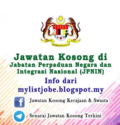Jawatan Kosong di Jabatan Perpaduan Negara dan Integrasi Nasional (JPNIN)