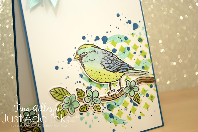 scissorspapercard, Stampin' Up!, Just Add Ink, Best Birds, Swirly Bird, Playful Backgrounds, Embossing Paste