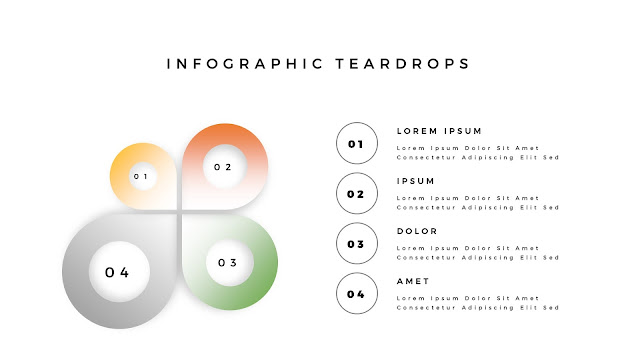 Infographic Teardrop elements for PowerPoint Slide 5