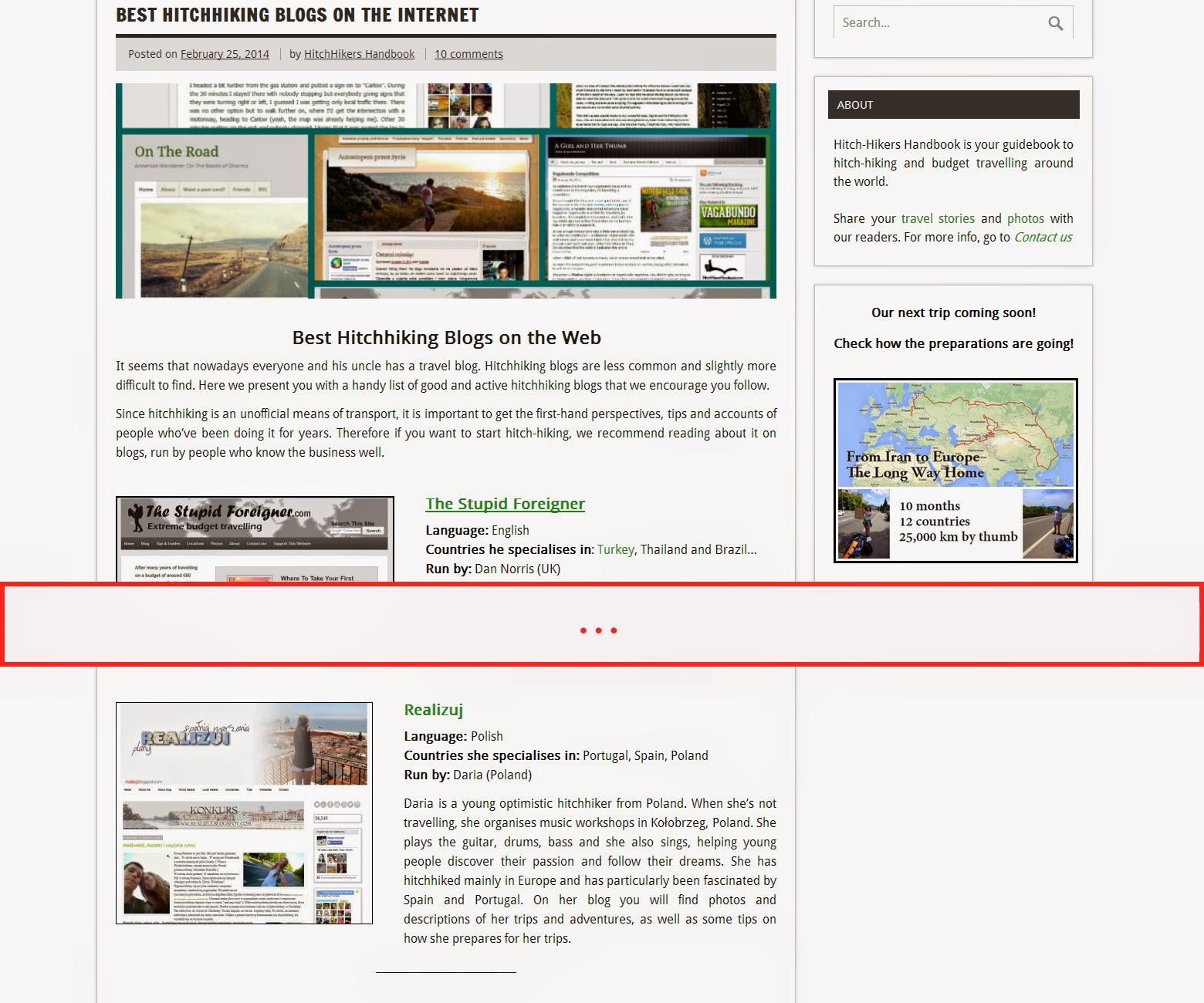 Mapa Marzeń na liście najlepszych blogów autostopowych w sieci!