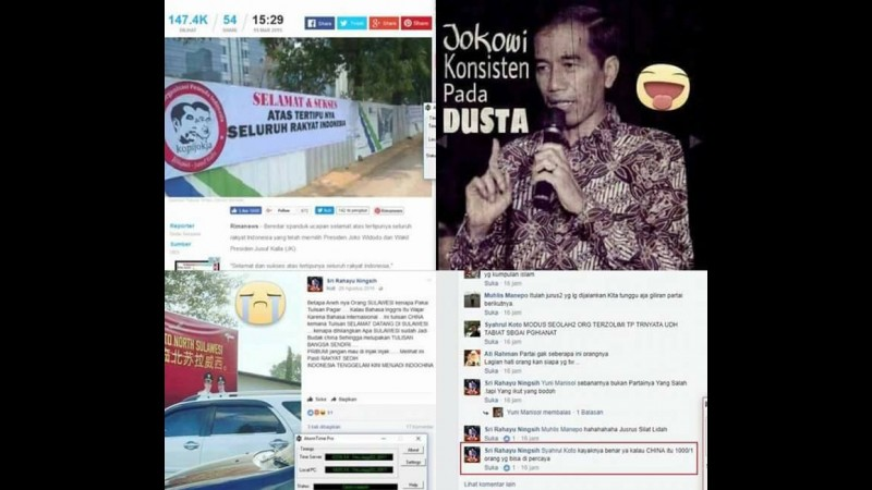 Salah satu hoax yang disebar Sri Rahayu