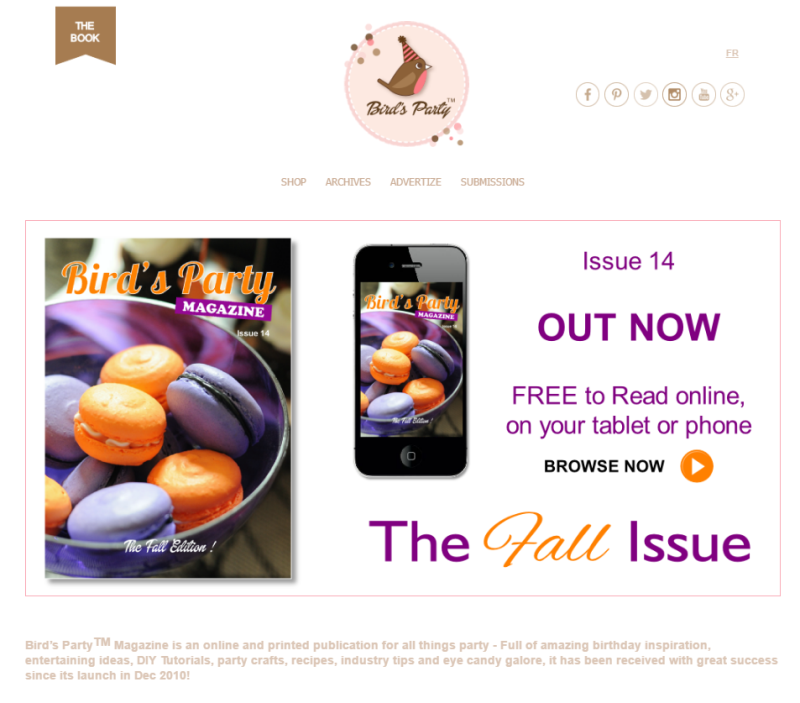Le site web de Bird's Party Magazine | BirdsParty.fr