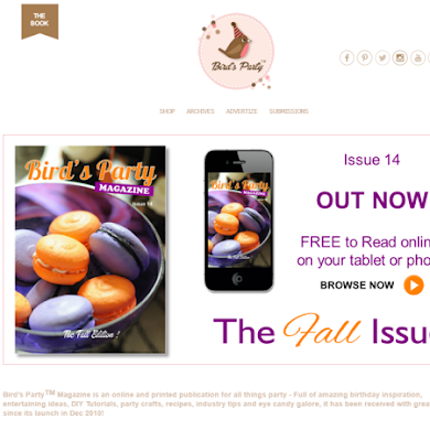 Le site web de Bird's Party Magazine