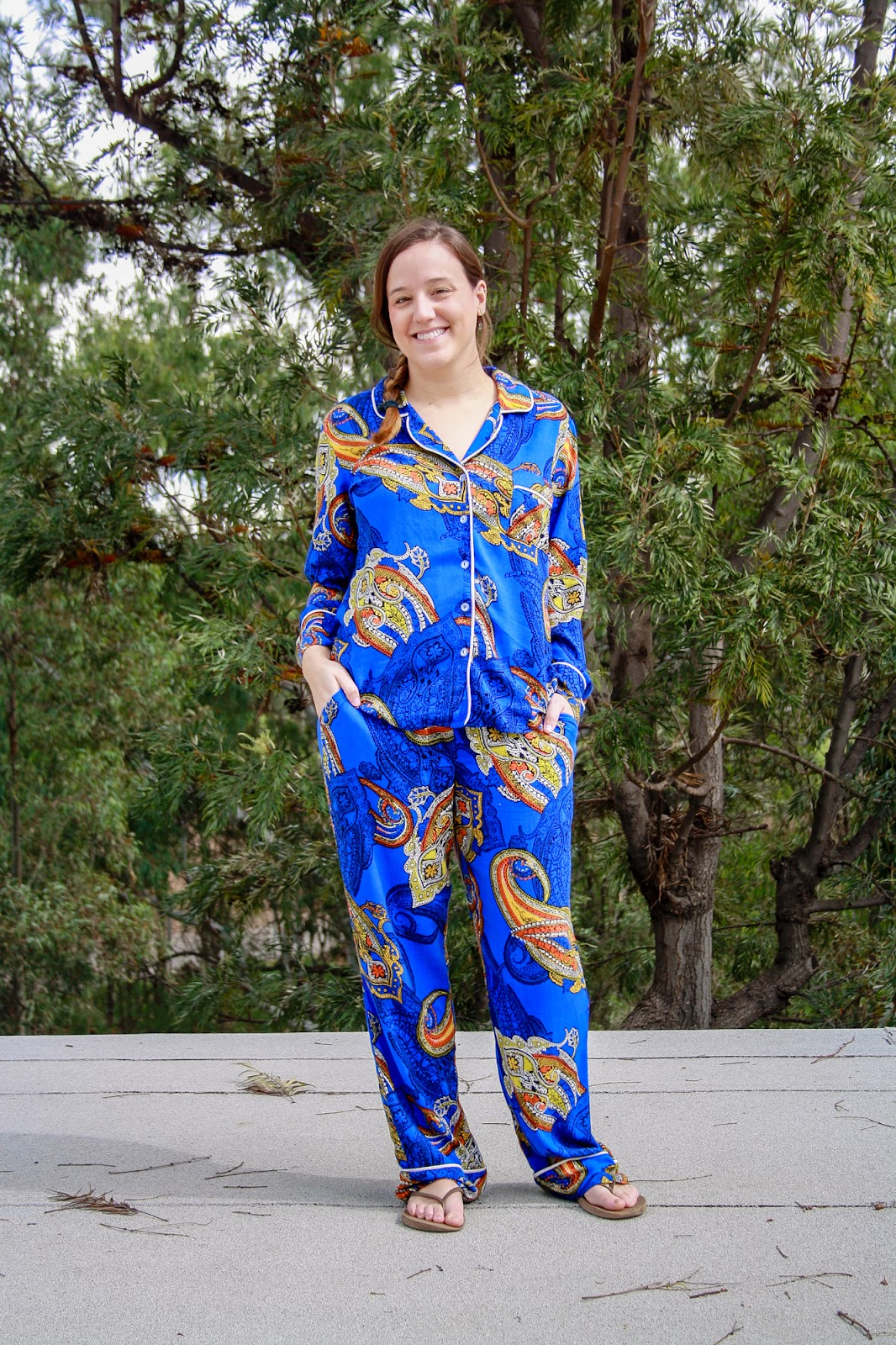 650104ceea912 On a trip to the garment district, I picked up 4 yards of this royal  blue/orange/white/black paisley print - and I was lucky enough to snag some  silk for my ...