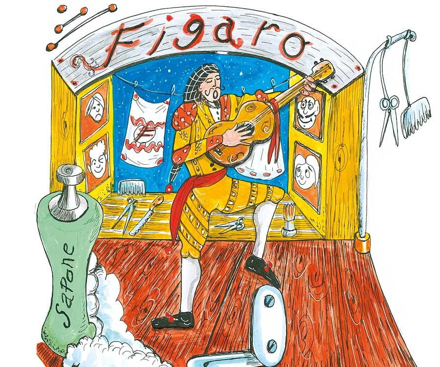Fogli d arte issn art for kids «il barbiere