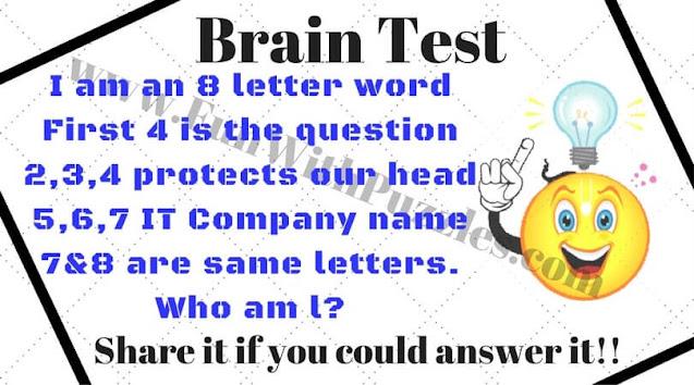 Brain Test Riddle