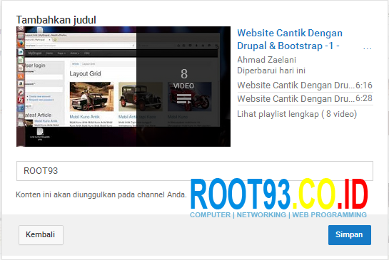 Mengatur Halaman Depan Channel Youtube 6