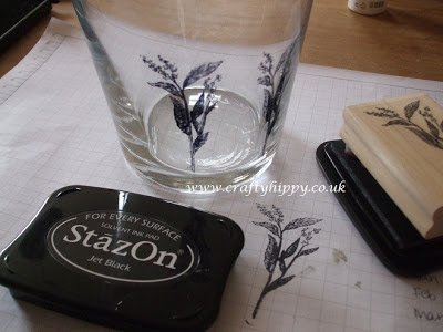 Stamping onto glass, StazOn, Stampin' Up!