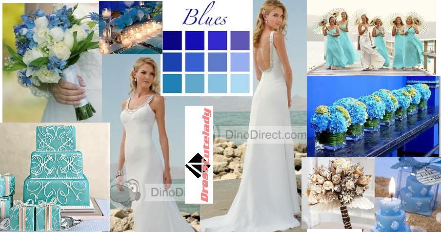 Blue Comfortable Wedding Shoes