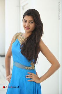 Telugu Actress Akshita (Pallavi Naidu) Latest Stills in Blue Long Dress at Inkenti Nuvve Cheppu Movie Promotions  0008.jpg
