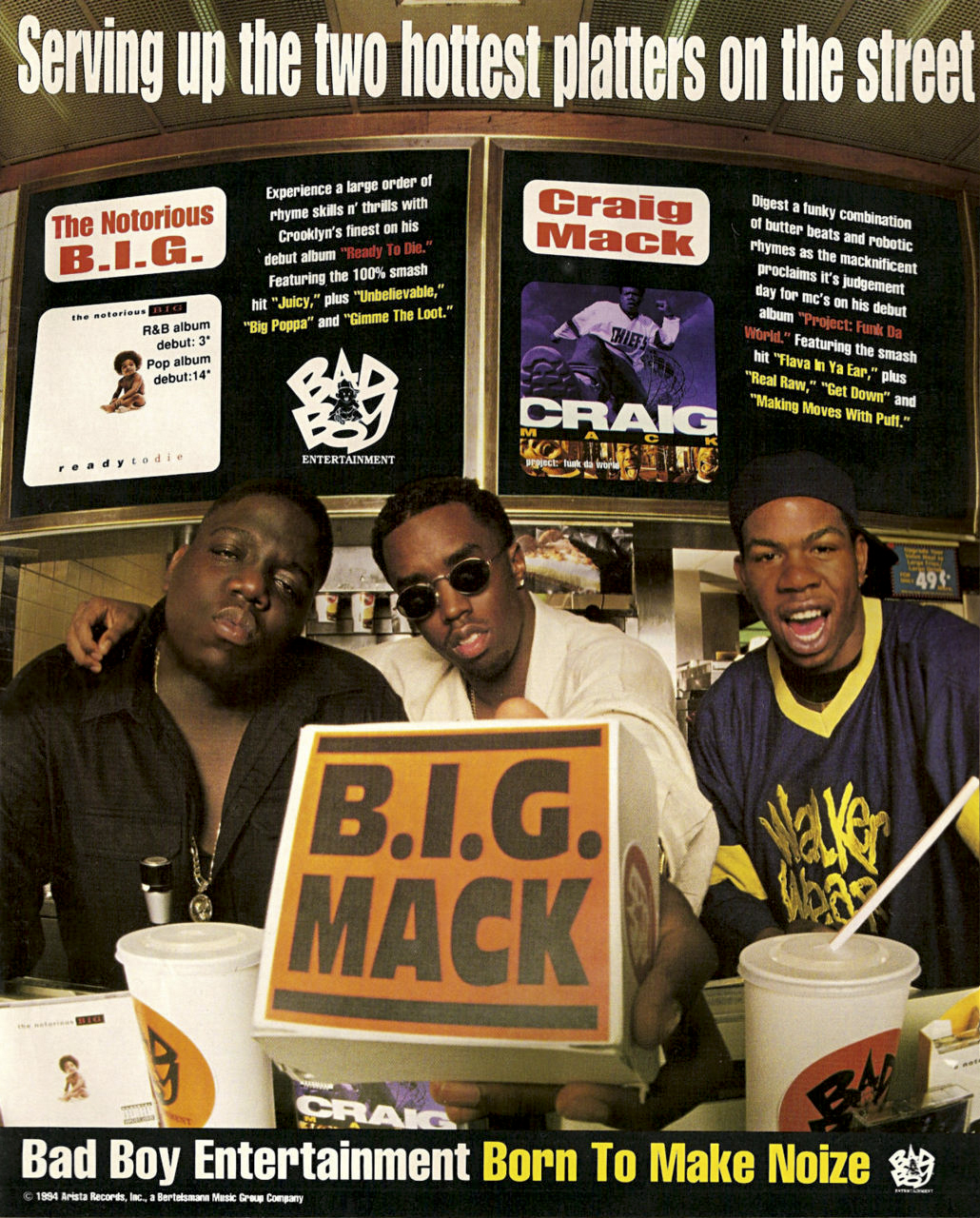The Notorious B.I.G. & Craig Mack B.I.G. Mack Advert