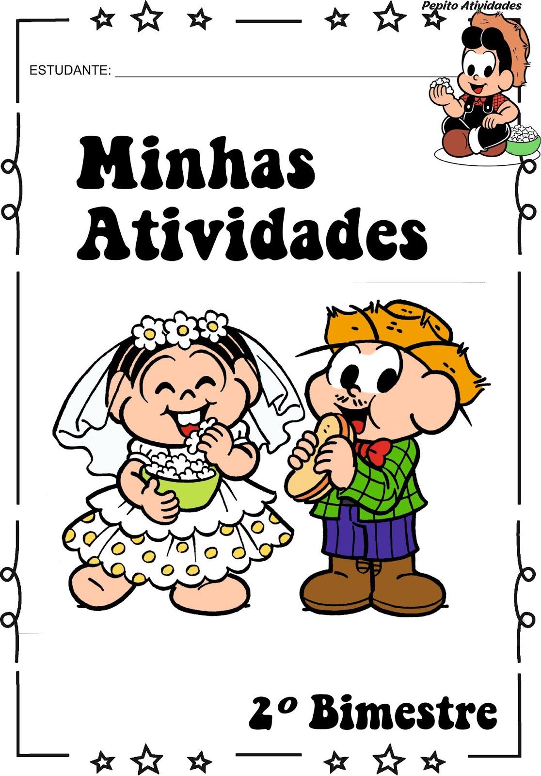 Capas Para Avaliacoes Festas Juninas Turma Da Monica