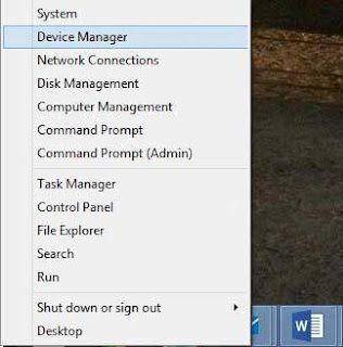 start menu win-8.1 device manager