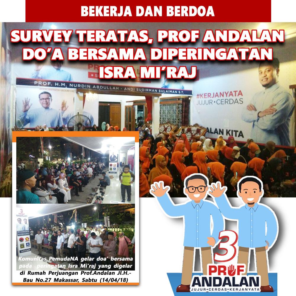 Survey Teratas, Prof Andalan Doa Bersama Diperingatan Isra Mi'raj