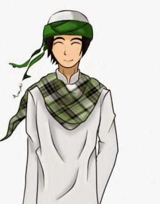 kartun muslim soleh bersorban