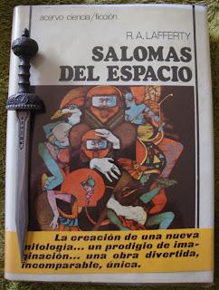 Portada del libro Salomas del espacio, de R. A. Lafferty