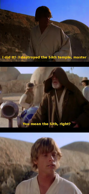 Funny Luke Skywalker Destroys Sikh Temple Joke Picture