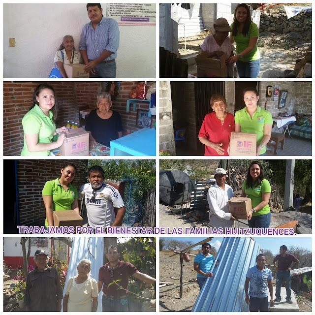 Entrega DIF-Huitzuco apoyos a familias de escasos recursos