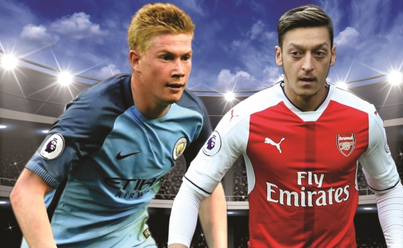 Man City and Arsenal battle it out at the Etihad Stadium in what is expected to be a cracking encounter.
