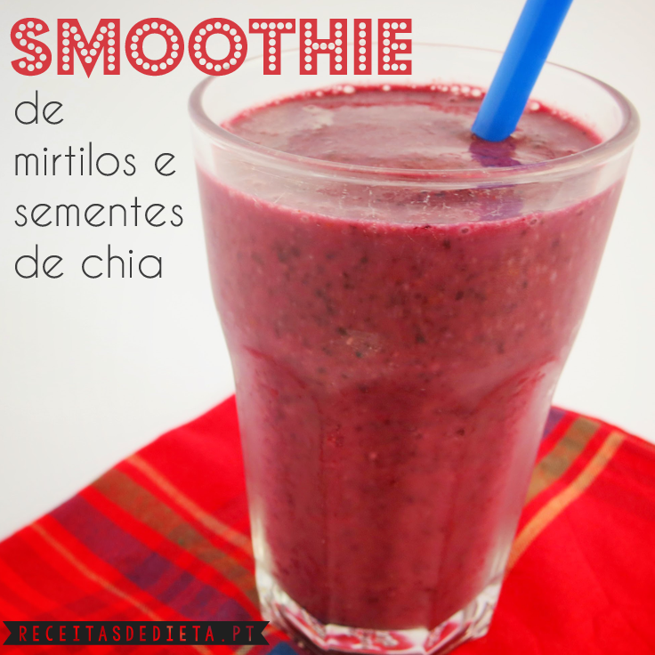 Smoothie de Mirtilos e Sementes de Chia