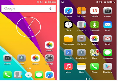 Freedom 251 icons are copied from Apple iPhone's Icon