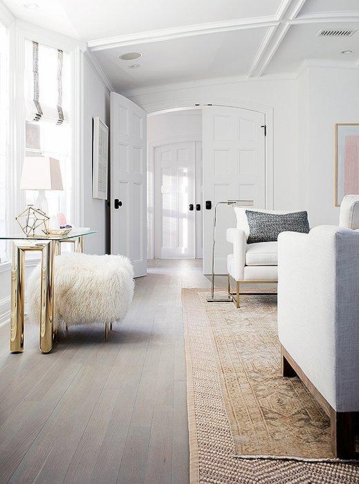 Ethereal Mid-century Modern White Living Room - Hello Lovely