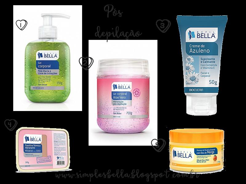 Produtos para acalmar e hidratar a pele após a depilação