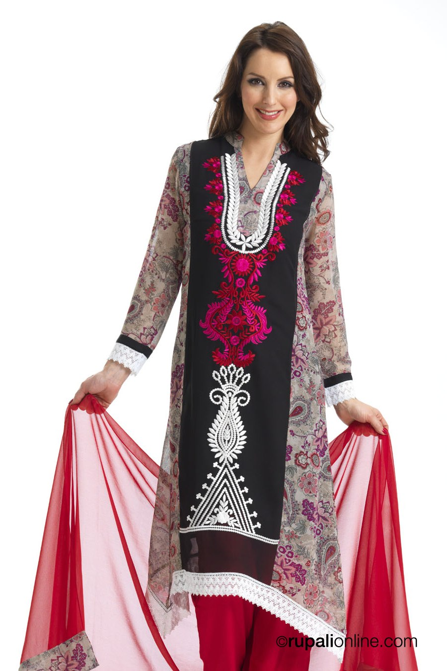 e0acbec4fe Asian Trouser Suits Collection 2013 | Casual Salwar Kameez Collection -  falk hairstyles she9