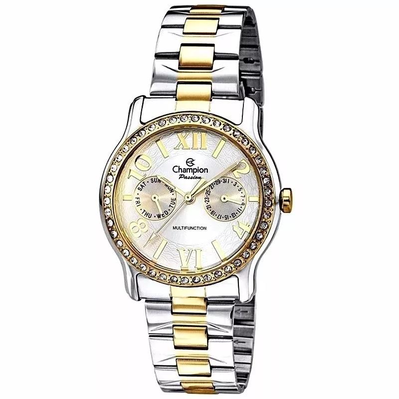 BLOG BIG ITA  Relógio Champion Feminino Passion Prata Dourado - Ch38468s aa853d53b9