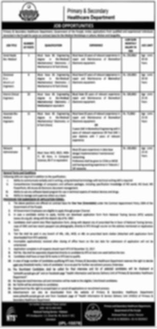 Jobs In Food Department Govt Of Punjab 2018 for BPS-1 to BPS-4