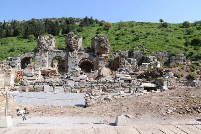Baths at the State Agora is Roman bathing facility nearby Ephesus in Turkey